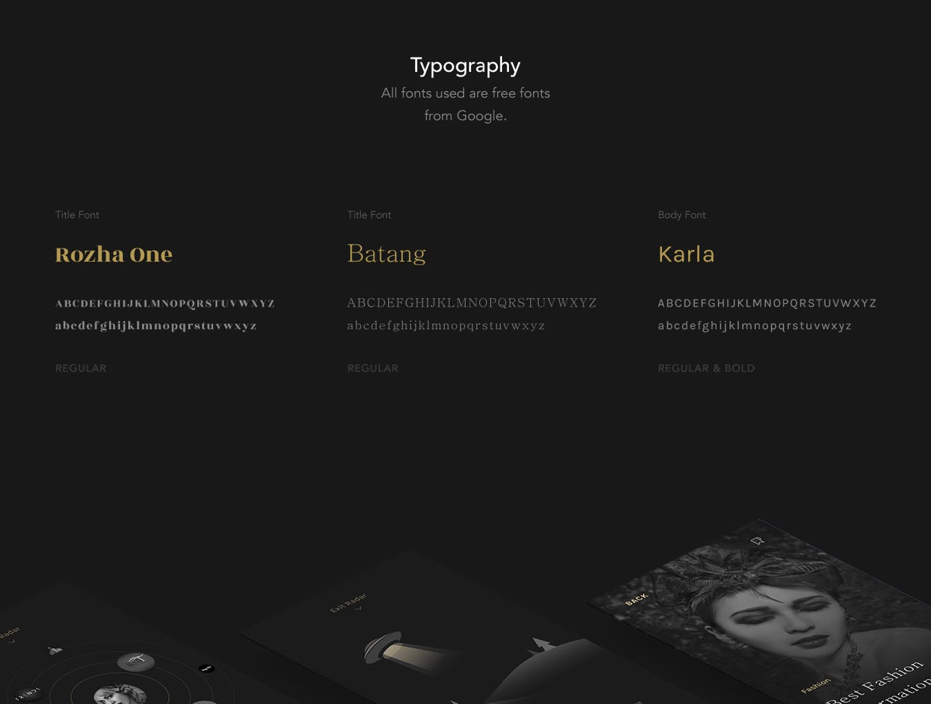 优雅奢华时尚高端APP UI KITS luxury-fashion-ui-kit