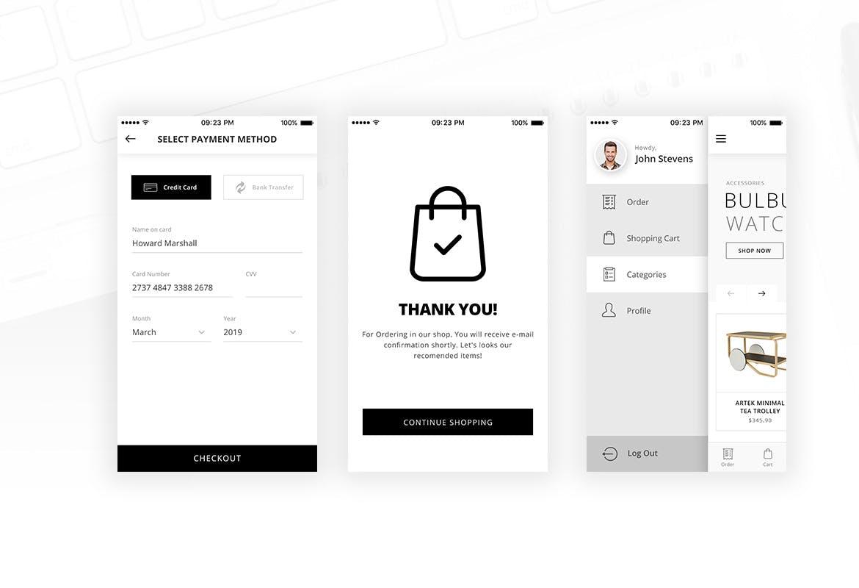 适用于iOS App的极简主义家具家居电子商务PSD UI KITS  alit-minimalist-ecommerce-psd-ui-for-ios-app