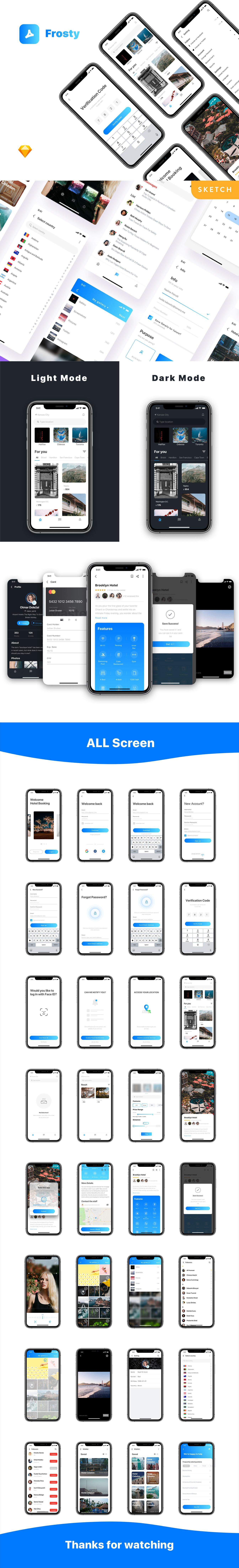 清新简单的旅行APP UI KITS下载 [Sketch]  Frosty UI Kit