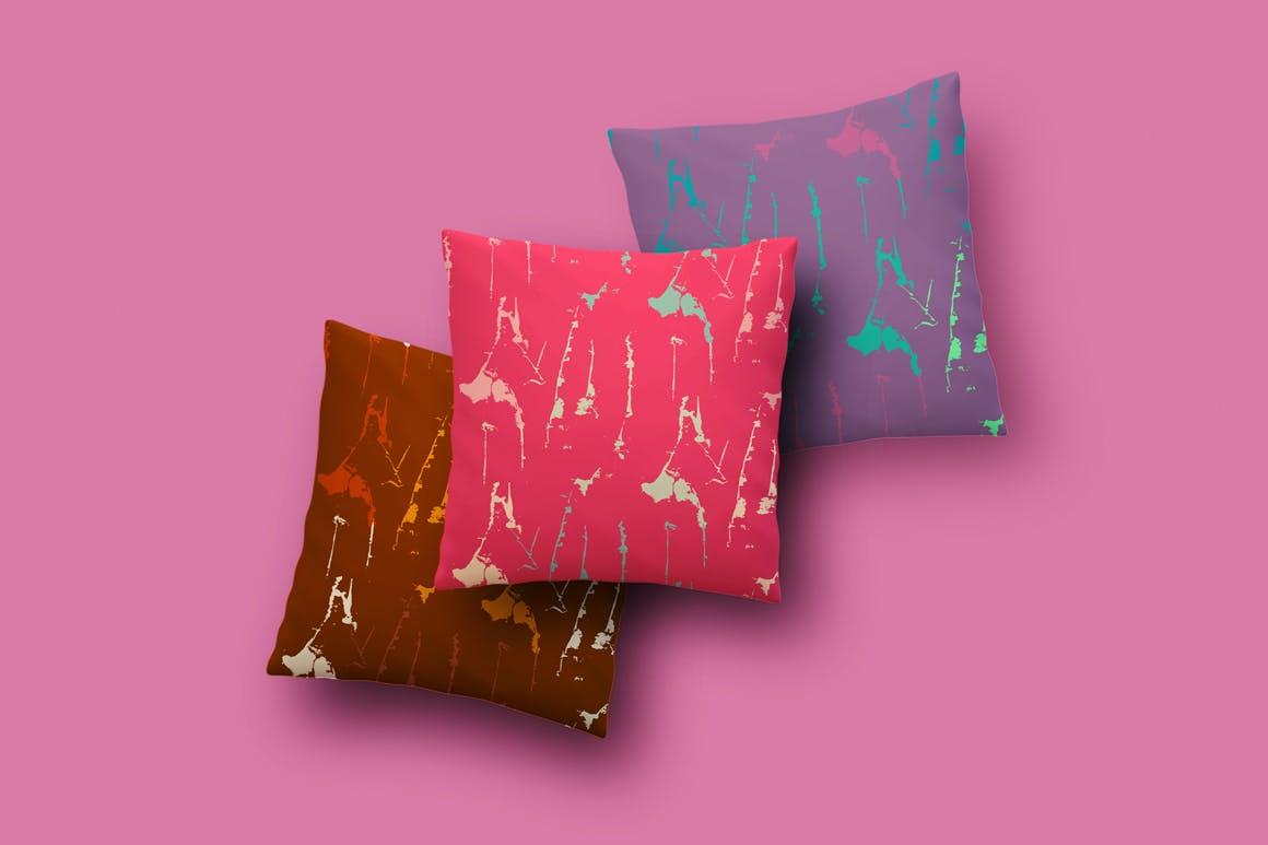 丰富多彩的喷溅纹理背景图案  Colorful Grunge Textures