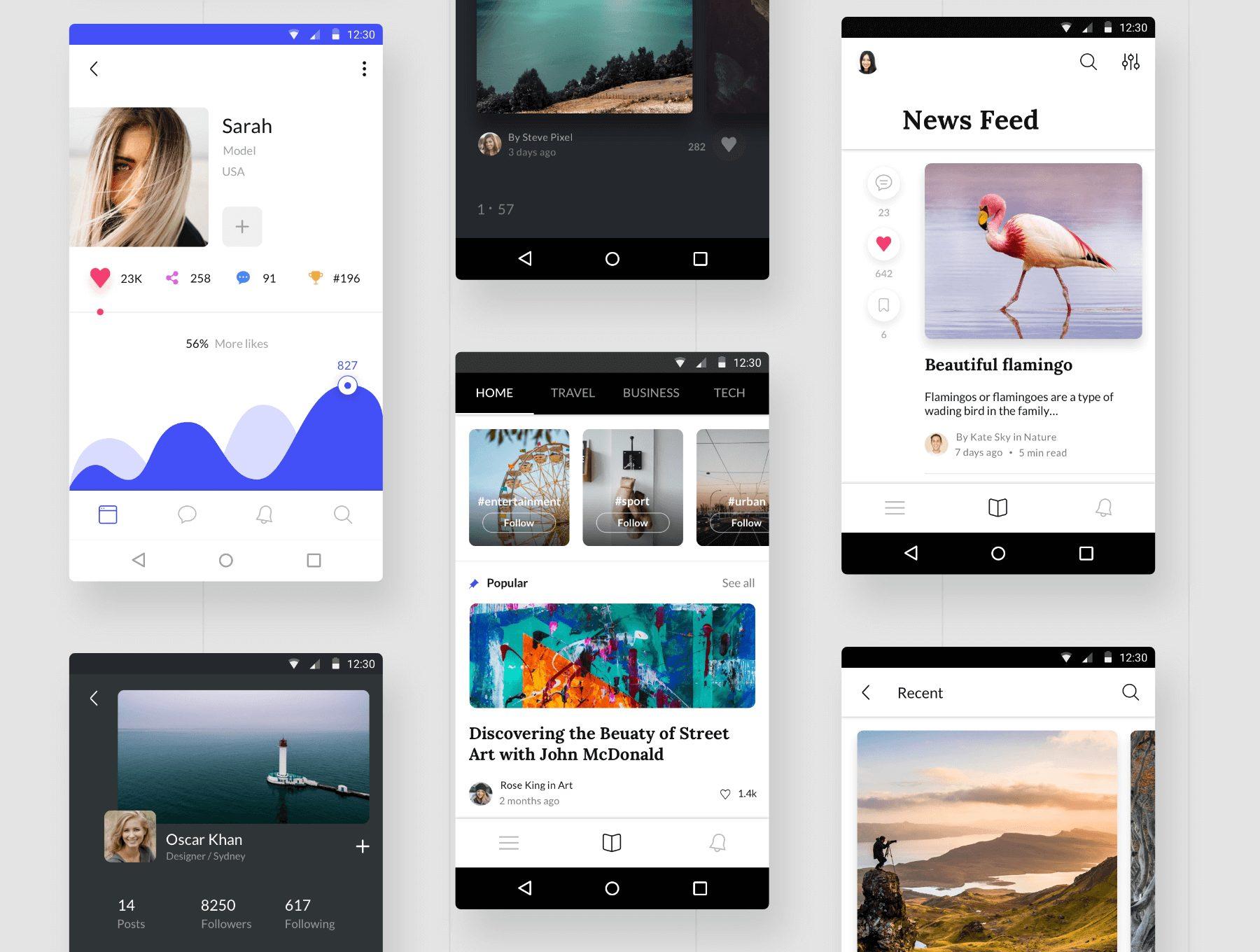 电商应用Android UI设计套下载[XD,Sketch,Fig]  Awesome Android UI Kit