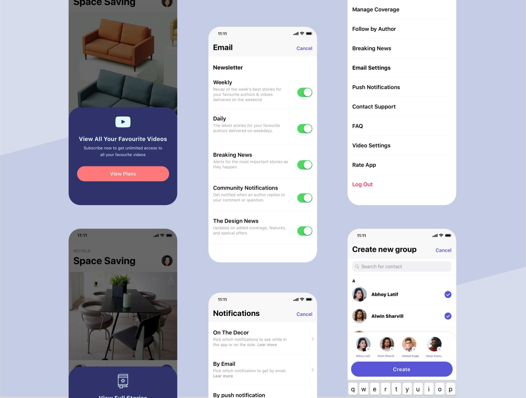 时尚的家具居家电商APP UI套装下载 iOS Ui app设计 app界面设计[Sketch] The Decor, Lifestyle App