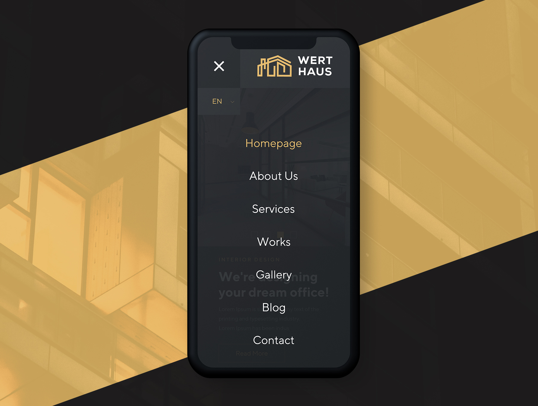 高端的响应式房地产或、房产或建筑介绍网站ui设计 网站ui[XD] Werthaus Architecture UI Kit
