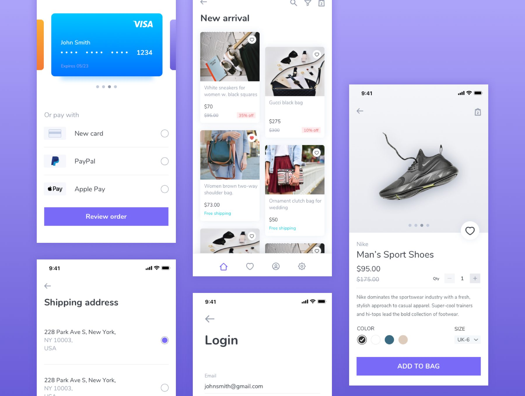 简约时尚的电商APP UI KIT套装app设计下载[Sketch,Fig] E-commerce UI kit for mobile