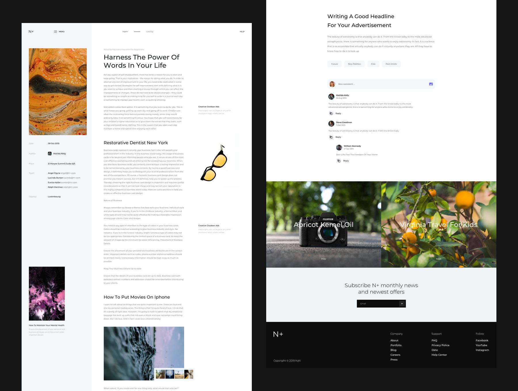 品牌产品电商官网模板下载[Sketch,Fig] H+ Web UI Kit