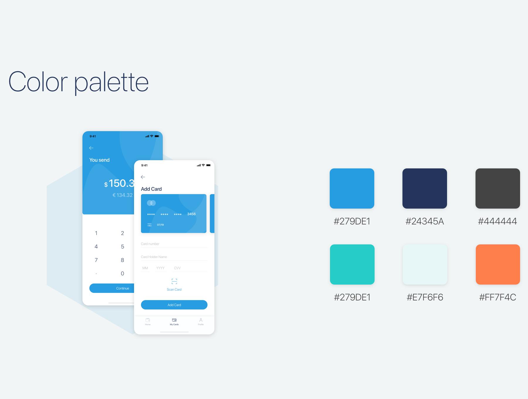 钱包理财工具界面套装下载 iOS Ui app设计[Sketch] Simple Wallet App UI UX Kit  APP UI UX
