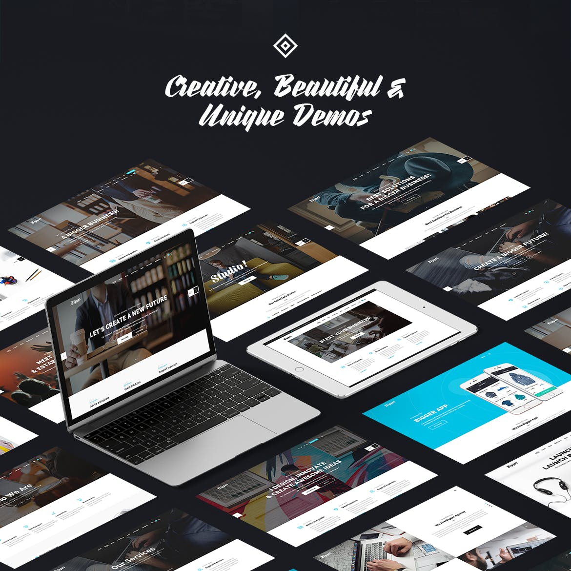 时尚高端商务商业质感PSD网站设计模板UI KITS bigger-business-multi-purpose-psd-template