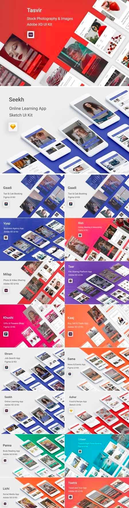 大量APP UI设计app设计大礼包合集下载[XD、sketch或figma] UI_Kit_for_Figma_Bundle