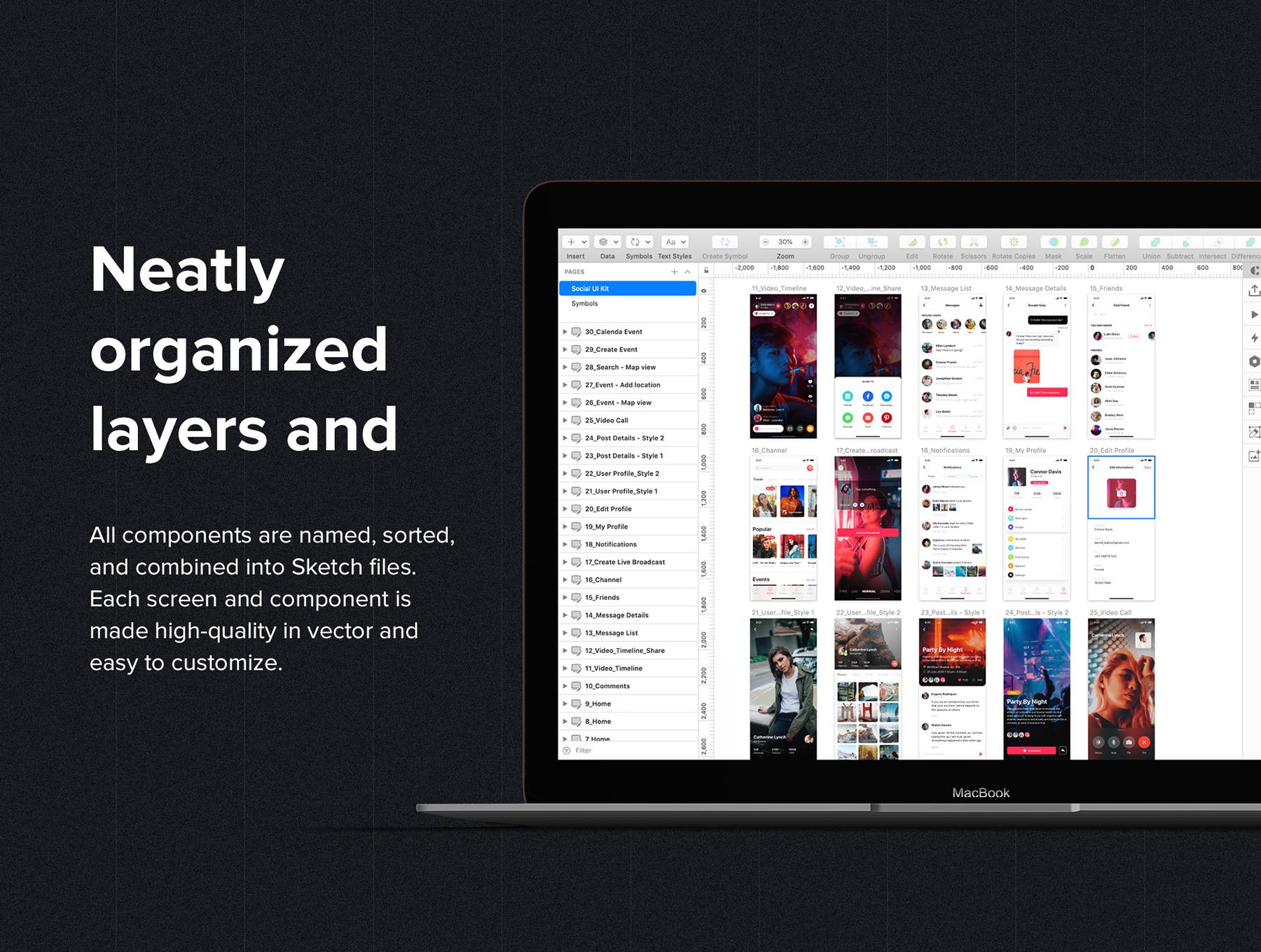 酷炫细腻的社交网站APP UI KIT套装模板下载 app设计 移动ui设计 iOS Ui[Sketch,fig,XD] Jazam - Social mobile app UI Kit