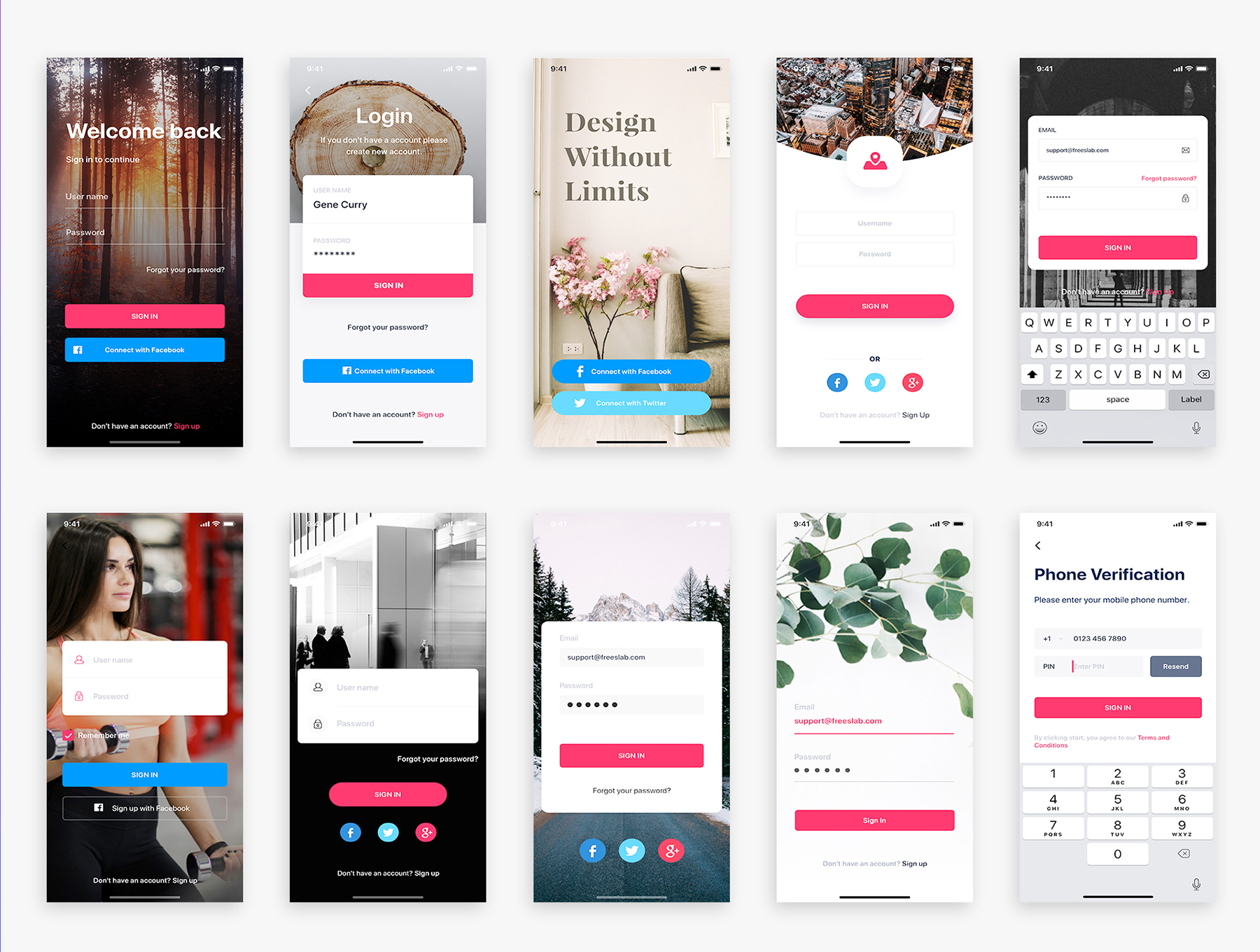 漂亮的资讯社交阅读内容APP UI KIT套装 iOS Ui 移动ui app设计 Prisma UI Kit