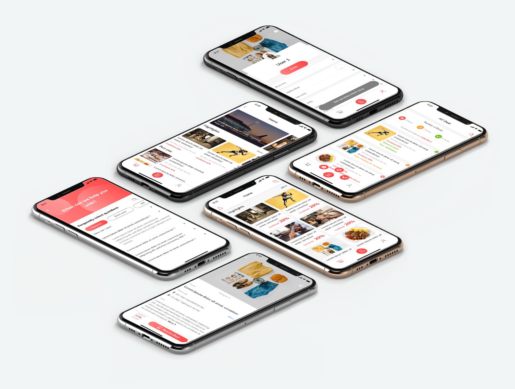 IOS风格完美电商APP UI KIT ui界面 app设计 iOS Ui UBuy - Ecommerce App figma