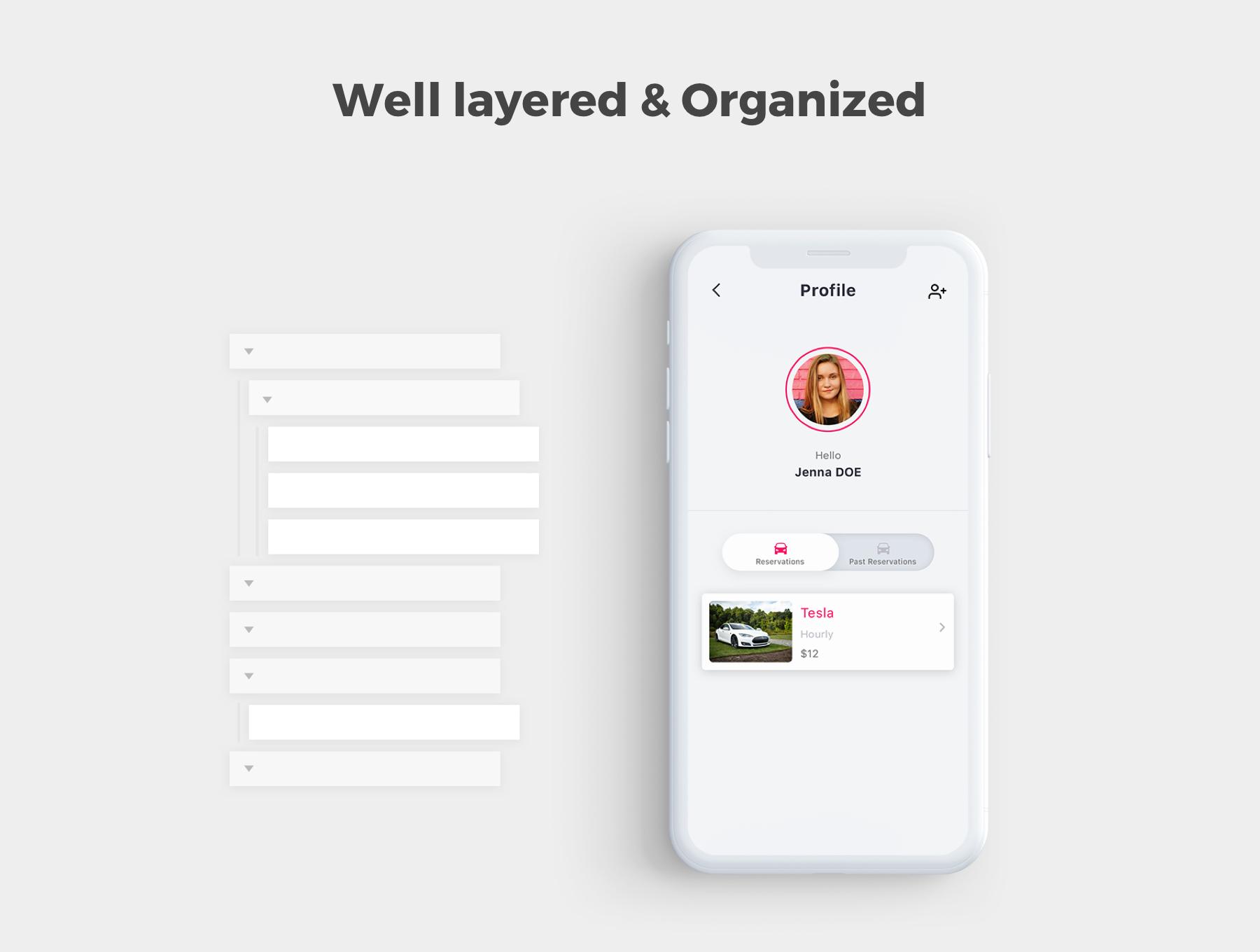 租车服务相关的APP UI KIT套装 iOS Ui app设计 移动ui设计[Sketch,XD] Marenta Car Rent App UI Kit