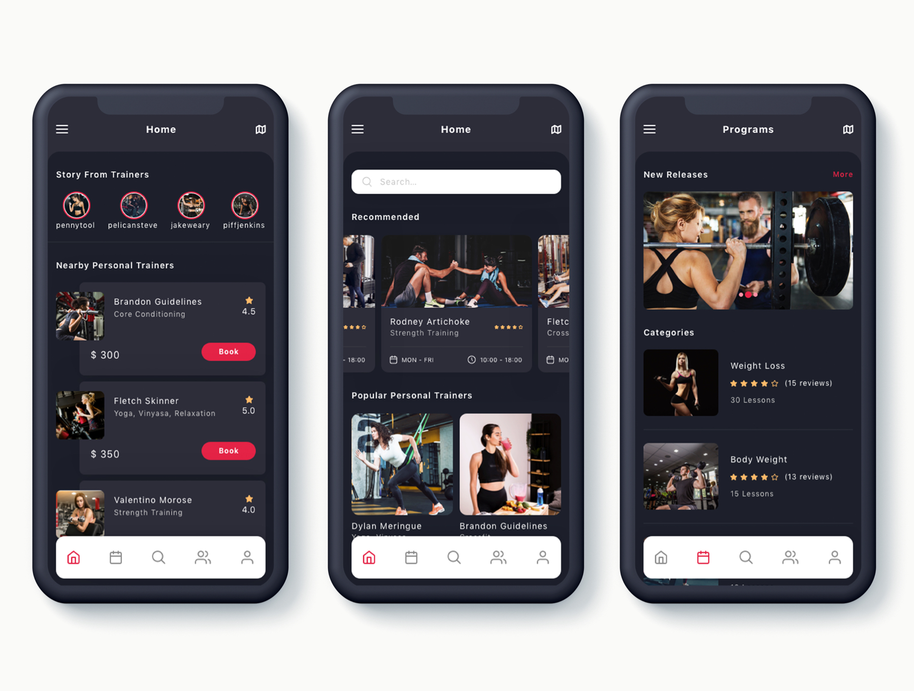 实用的培训APP个人讲师app界面设计iOS Ui套装下载[Sketch,XD] Badi Find a Personal Trainers App UI Kit