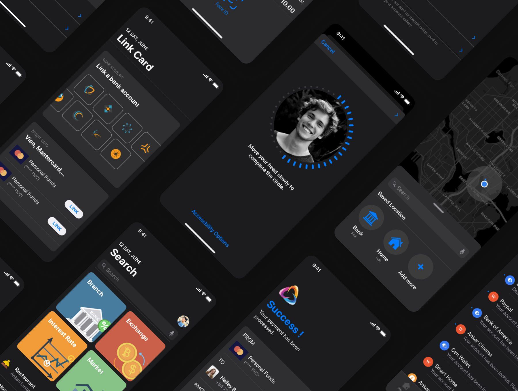 国际外汇金融APP设计产品套装iOS Ui下载[Sketch,iOS 13] Cadeep Finance App UI Kit design for sketch
