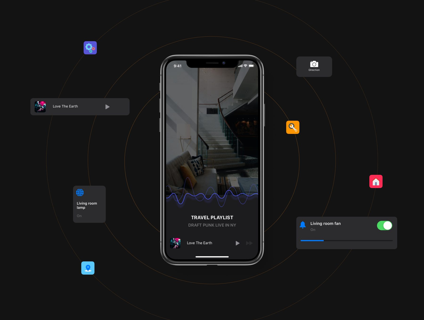 智能居家app设计物联网APP UI KIT套装下载[Sketch] Deep - Smart Home iOS 13 Design Kit