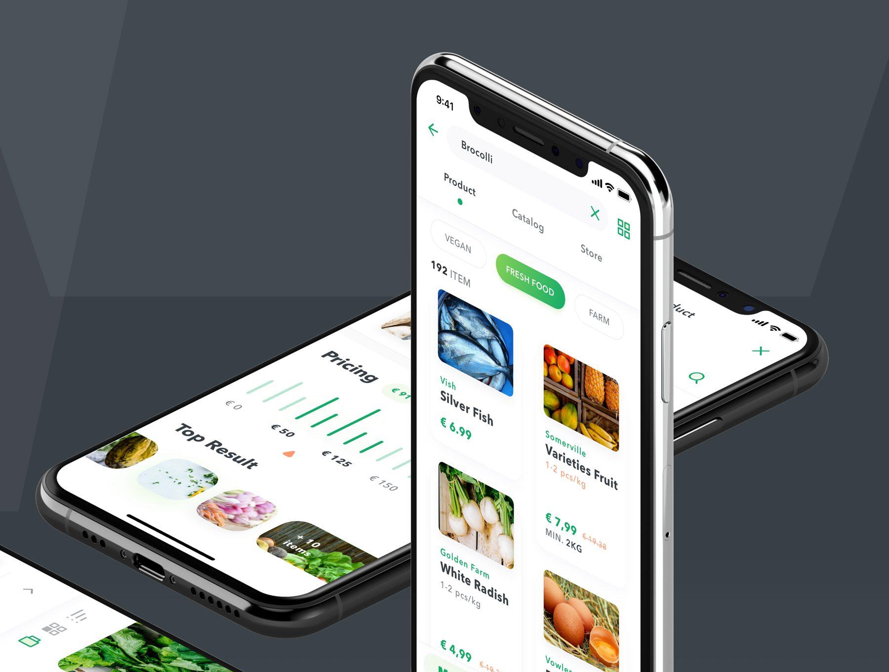 适合电商小程序的app设计模板下载[Sketch,Fig] MOMO UI Kit