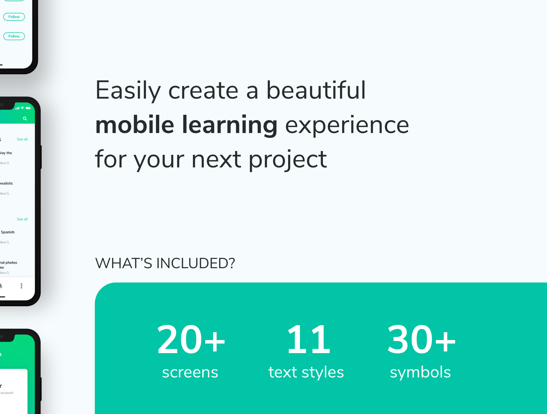 移动端在线学习 APP UI KIT app界面设计套装模板下载[XD] ProLearn - E-learning Mobile UI Kit
