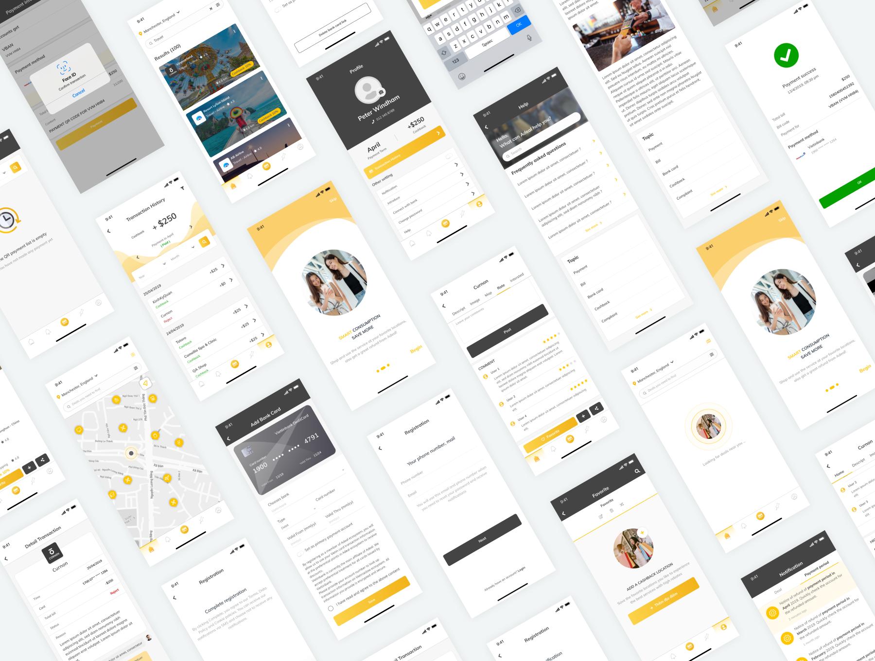 电商APP UI kit套装下载 iOS Ui app设计 app界面设计[Fig] Adeal - Deal Location Ecommerce UI Kits