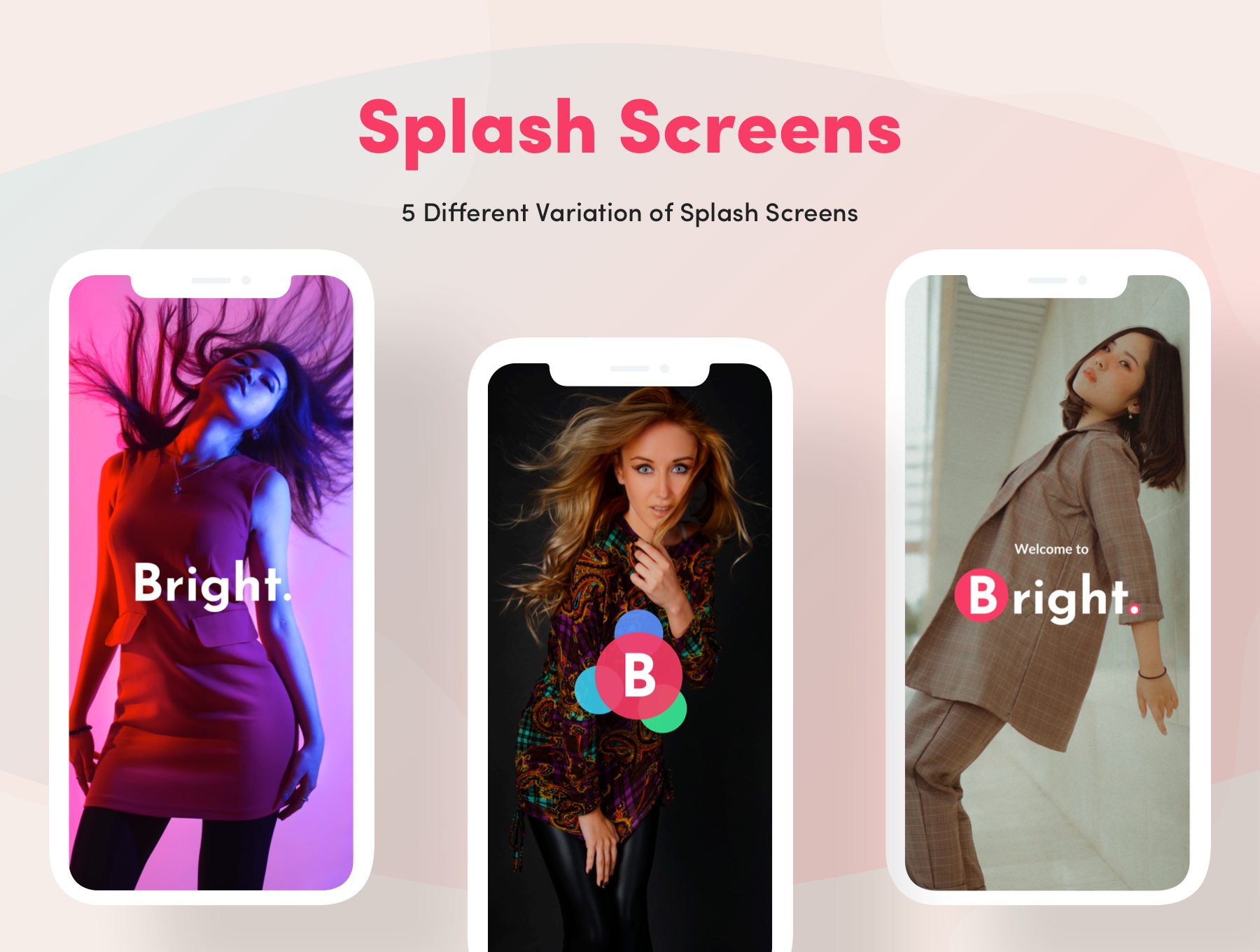 超级时尚明亮的电商APP UI KIT套装下载 iOS Ui app设计 app界面设计[fig,XD,Sketch] Bright App UI Kit