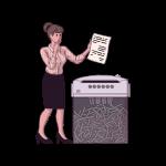 [可商用]手绘卡通职场女人男人快递员科学家旅行家庭人物设计素材 B_eastwood插图3