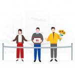 [可商用]手绘卡通职业人物生活场景工作旅游插画设计素材B_fogg插图1