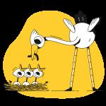[可商用]黄色脑洞大开创意手绘卡通人物生活场景插画B_taxi插图15
