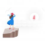 [可商用]手绘卡通职业人物生活场景工作旅游插画设计素材B_fogg插图2