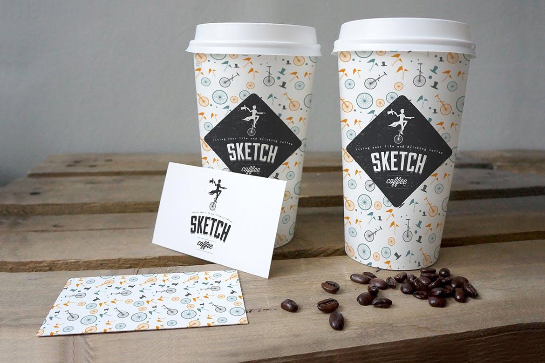 时尚纸杯子高端咖啡杯房地产纸杯设计包装设计VI样机展示模型mockups  coffee-cup-mockup-2