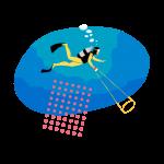 [可商用]手绘卡通电视机灯泡手机二维码汽球窗户望远镜物品插画B_rush插图2