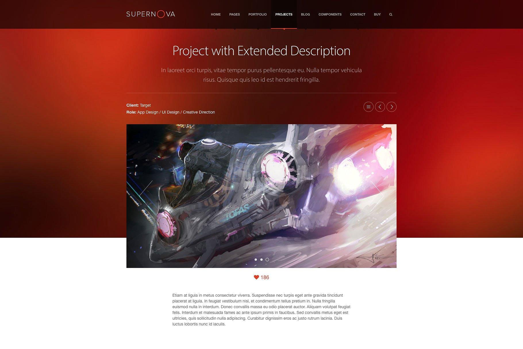 多功能现代风格网页模板 Supernova – PSD Template  Supernova - PSD Template