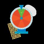 [可商用]手绘卡通电视机灯泡手机二维码汽球窗户望远镜物品插画B_rush插图19