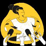 [可商用]黄色脑洞大开创意手绘卡通人物生活场景插画B_taxi插图8