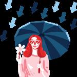 [可商用]免版权手绘职场女性男性卡通人物场景插画素材 B_cherry插图22