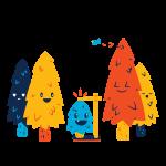 [可商用]手绘卡通科技通信机器人宇宙外星人人物场景B_flame插图15