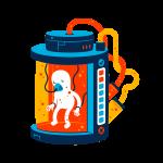 [可商用]手绘卡通科技通信机器人宇宙外星人人物场景B_flame插图9