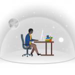 [可商用]手绘卡通职业人物生活场景工作旅游插画设计素材B_fogg插图