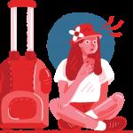 [可商用]免版权手绘职场女性男性卡通人物场景插画素材 B_cherry插图11