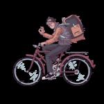 [可商用]手绘卡通职场女人男人快递员科学家旅行家庭人物设计素材 B_eastwood插图14