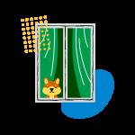 [可商用]手绘卡通电视机灯泡手机二维码汽球窗户望远镜物品插画B_rush插图15