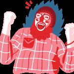 [可商用]免版权手绘职场女性男性卡通人物场景插画素材 B_cherry插图7