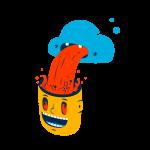 [可商用]手绘卡通科技通信机器人宇宙外星人人物场景B_flame插图4
