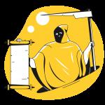 [可商用]黄色脑洞大开创意手绘卡通人物生活场景插画B_taxi插图18