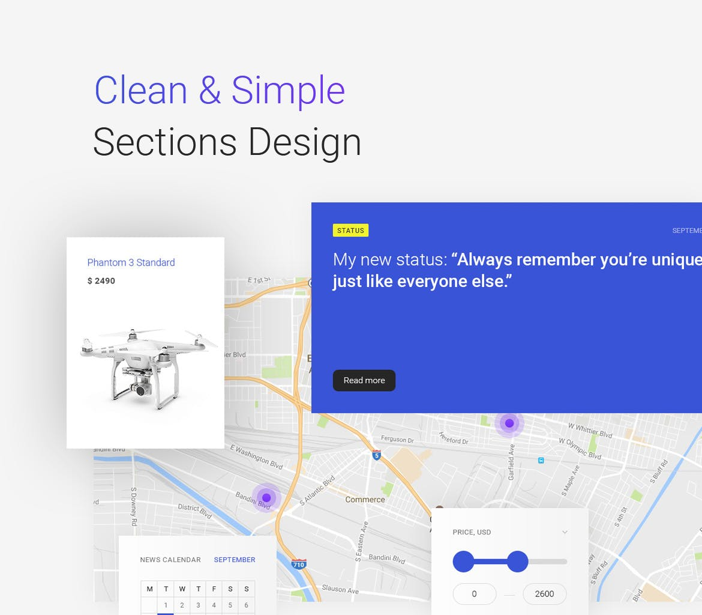 无人机科技电子商务淘宝高端电商网站网页设计UI设计素材模板 bzzz-gadgets-ecommerce-psd-template