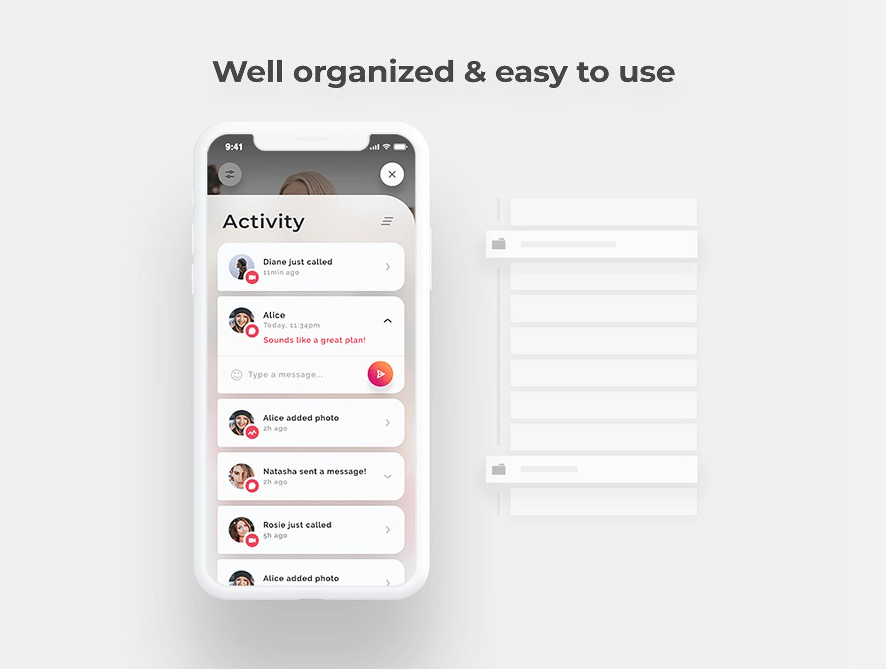 设计优雅的约会交友社交类APP UI设计参考[Sketch,PSD,XD] Lynda iOS UI Kit