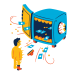 [可商用]手绘卡通科技通信机器人宇宙外星人人物场景B_flame插图16