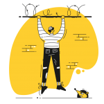 [可商用]黄色脑洞大开创意手绘卡通人物生活场景插画B_taxi插图10