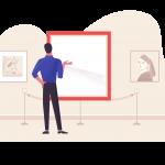 [ 可商用]免版权卡手绘卡通人物工作生活场景插画设计素材B_pale插图4