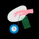 [可商用]手绘卡通电视机灯泡手机二维码汽球窗户望远镜物品插画B_rush插图14