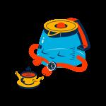[可商用]手绘卡通科技通信机器人宇宙外星人人物场景B_flame插图7