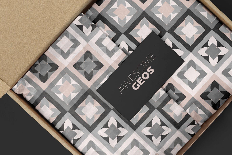 平面包装素材几何图形背景圆形方形纹理图案Geometric Play Patterns + Tiles